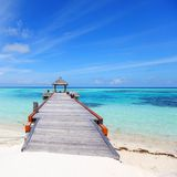Resort maldivian houses Stock Photo