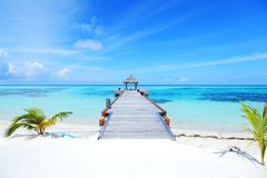 Resort maldivian houses Royalty Free Stock Photography