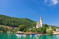 Resort Maria Worth. Church of St. Primus and Felician. Austria Royalty Free Stock Photo