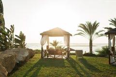 Resort on mediterranean sea, Paphos, Cyprus Royalty Free Stock Photos