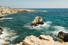 Resort on mediterranean sea, Cyprus, Paphos Stock Images
