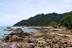 Resort near the beach on a tropical island Stock Photography