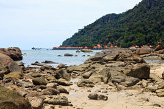 Resort near the beach on a tropical island Royalty Free Stock Photos
