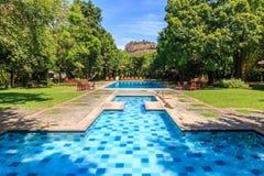 Resort near lion rock at Sigiriya in Sri Lanka Royalty Free Stock Image