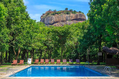 Resort near lion rock at Sigiriya in Sri Lanka Stock Images