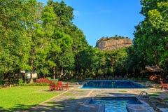 Resort near lion rock at Sigiriya in Sri Lanka Royalty Free Stock Photography