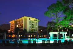 Resort at night. Turkey luxury resort at night stock photo