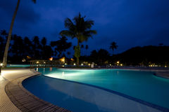 Resort at night Royalty Free Stock Images