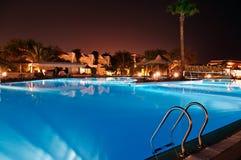 Resort at night Royalty Free Stock Image