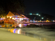 Resort at night Stock Photography