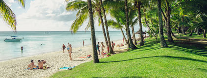 A resort at the ocean in Mauritius Stock Image