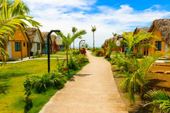 Resort at the Pacific Ocean in Panama Royalty Free Stock Photography