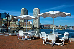 Resort patio Stock Photo