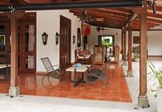 Resort Patio In The Tropics Stock Photo
