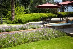 Resort patio terrace Stock Photos