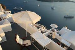 Resort Patio Vistas Stock Photo