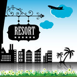 Resort plate Royalty Free Stock Photos