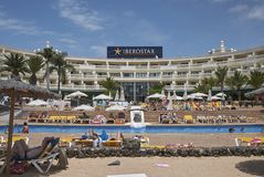 Resort in Playa Blanca stock photos