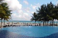 Resort in Playa del Carmen Royalty Free Stock Photography