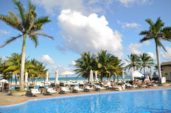 Resort in Playa del Carmen Stock Photography