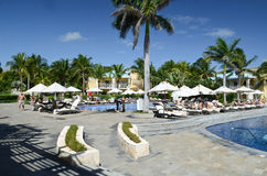 Resort in Playa del Carmen Stock Images