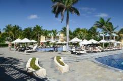 Resort in Playa del Carmen Stock Images