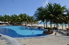 Resort in Playa del Carmen Royalty Free Stock Photos