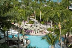 Resort Pool. Aruba Stock Photography