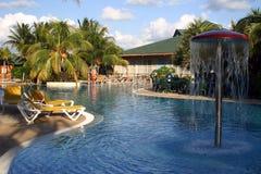 Resort Pool. Sunny caribbean hotel swimming pool, Varadero, Cuba Stock Photography