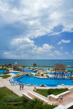 Resort pool area Royalty Free Stock Photos