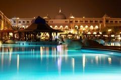 Free Resort Pool At Evening Stock Photo - 14642230