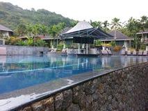 Resort pool and bar Stock Photo