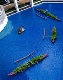 Resort pool in lobby Royalty Free Stock Image