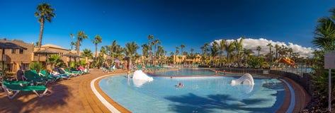 Resort pool panorama royalty free stock image