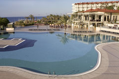 Resort pool in Turkey Royalty Free Stock Photography