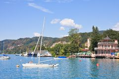 Resort Portschach am Worthersee . Austria Royalty Free Stock Photography