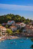 Resort Przno - Montenegro. Architecture and nature background Stock Image