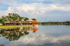 Resort reflection. Around the lake Royalty Free Stock Photography