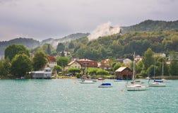 Resort Reifnitz . Lake Worth. Carinthia, Austria Stock Photography