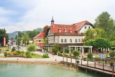 Resort Reifnitz . Lake Worth. Carinthia, Austria Royalty Free Stock Images