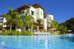 Resort in Roatan, Honduras. Tropical resort in Roatan island, Honduras royalty free stock image