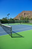 Resort's Blue Tennis Courts Stock Image