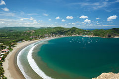Resort san juan del sur. View from top on sunny day Stock Photos