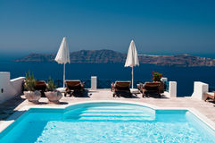 Resort in Santorini Stock Photography