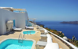 Resort in Santorini Stock Images