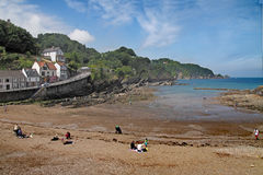 Resort by the Sea. The seaside resort of Combe Martin is in North Devon, England Stock Photography
