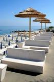 Resort seating seashore on the beach Royalty Free Stock Photo
