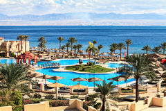 Resort on the shores of the Red Sea Stock Photography