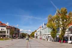 The Resort Square in Sopot, Poland. Street scene with tourists visitors Sopot. City is a major health-spa and tourist resort. Photo taken on: September 04, 2013 Stock Photography