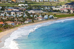 Resort in st kitts. Overview of beach and resort, st kitts, caribbean Royalty Free Stock Images